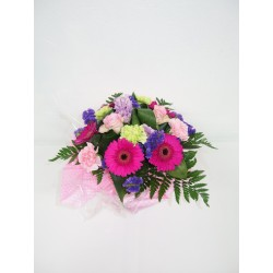 Bouquet rond rose fuschia