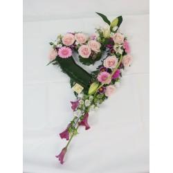 Cœur ouvert ton rose