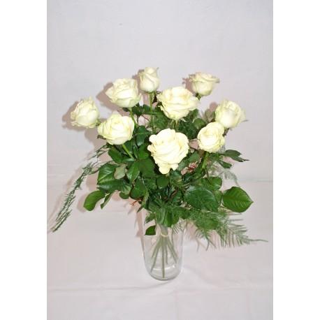 bouquet de roses blanches nectoux fleurs. Black Bedroom Furniture Sets. Home Design Ideas