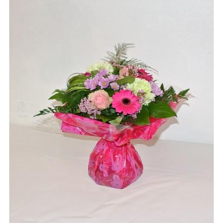 Bouquet rond ton rose
