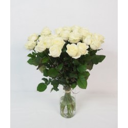 Superbe bouquet de roses blanches