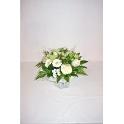 Bouquet rond blanc vert
